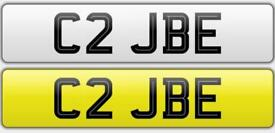 C2 JBE private number plate for sale
