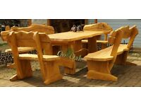 Solid Oak Outdoor - Indoor furniture, handmade, high quality and unique