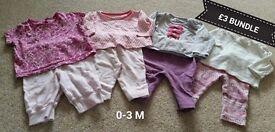 Baby 0-3m bundle £3