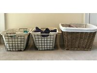 3 Storing baskets with with canvas insider