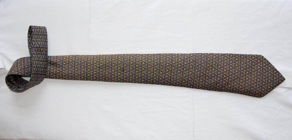 Vintage Hermes Krawatte Blau 100 Seide Zustand Sehr Gut 7531 Ia