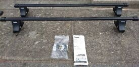 Thule Square Roof Bars with locks and footpack to fit VW Golf Mk5/6