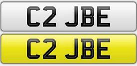 C2 JBE - private registration plate - cherished