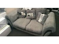 Two Seater Sofa Grey /Black