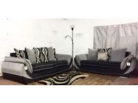 Brand new toni black and grey 3+2 seater sofas**Free delivery**