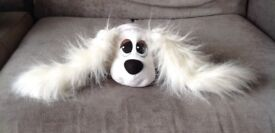 White Pound Puppy Soft Toy with Fluffy Ears