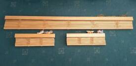 Three 50mm wooden Venetian blinds