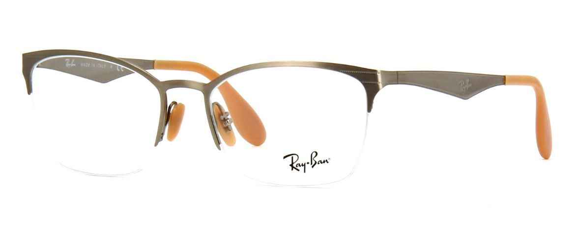 64cb68a2de33 NEW 100% AUTHENTIC RAY- BAN EYEGLASSES RB6345 2595 SILVER BRUSHED 52-17-