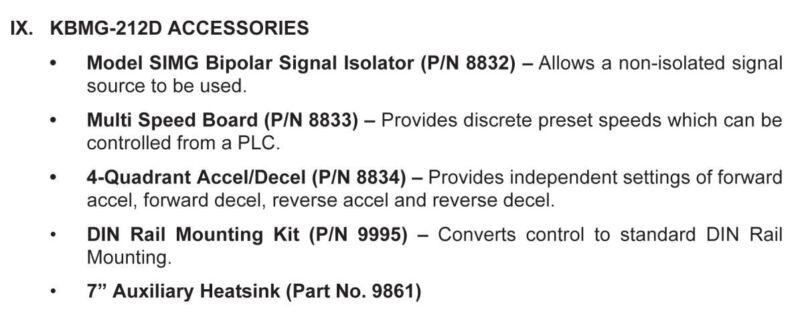 KB Electronics KBMG-212D DC motor control 8831 upc 024822088312