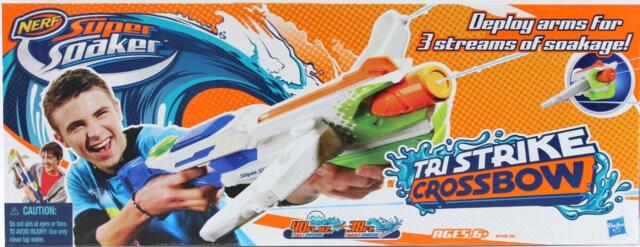 New Nerf Super Soaker Tri  Strike Crossbow Water Gun Shoots up to 11.5 mts