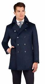 Harley Navy Wool Peacoat, Smart Winter Coat