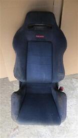 HONDA CIVIC EK9 TYPE R INTEGRA DC2 TYPE R JDM RECARO SEAT BLACK DRIVER SIDE
