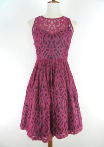Anthropologie Tracy Reese purple Mariposa lace dress-fits like 4