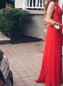 PROM DRESS FOR SALE,RED LAFEMME DRESS West Island Greater Montréal image 1
