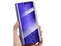 Samsung Galaxy Smartview Leather Wallet Flipstand Protective Case/Cover - Purple