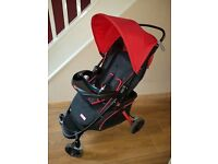 Fisher price pushchair.V.g.c.Lies flat,large shopping basket,free standing when folded,playtray,