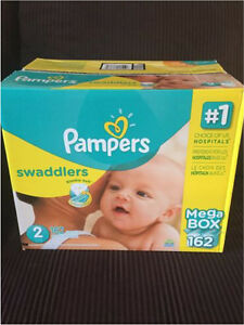 Pampers Size 2 Diapers Mega Box 162