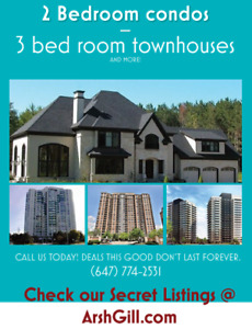 Houses, TownHouses, and Condos for RENT and SALE ALL OF GTA