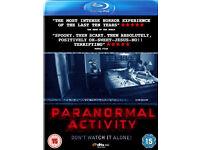 Paranormal activity 1-4 blu-rays