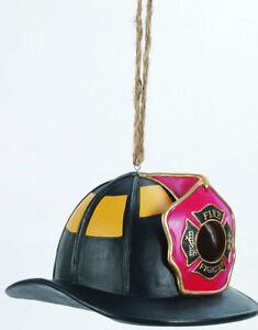 Firefighters-Helmet-BIRDHOUSE-and-Feeder-Firefighters-Fire-Helmet-Birdhouse