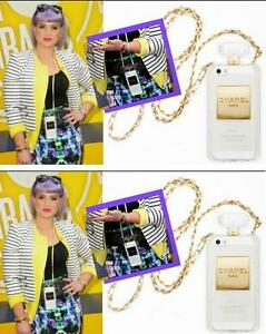 3D Chanel Perfume Bottle with Chain TPU soft Case $20