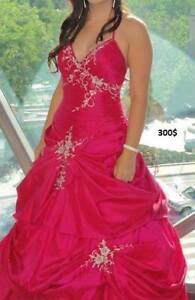 Prom Dress Fushia