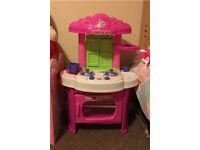 Toddler toy pink kitchen