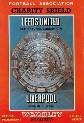* 1974 CHARITY SHIELD - LEEDS UNITED v LIVERPOOL *