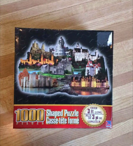 1000 Shaped Puzzle - Castles. NEW SEALED - Over 3 Foot Long