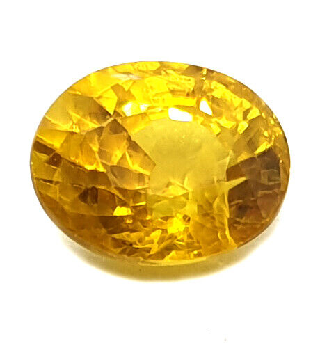 2.95 Ct Certified Earth Mined Yellow Sapphire Excellent Quality Loose Gemstone