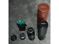 3 camera lens with Nikon fotodiox pro adapter