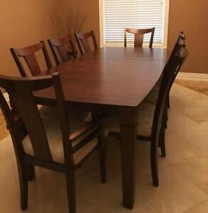 Antique Walnut Dining Table And Chairs
