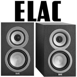 NEW 2PC ELAC BOOKSHELF SPEAKER SET - 128516549 - CONCENTRIC AUDIO BLACK