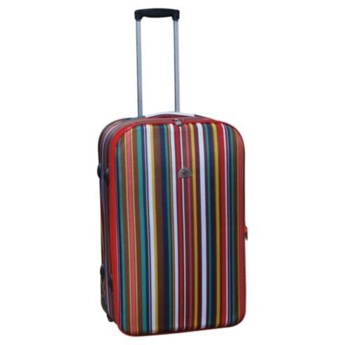 Red stripe cabin suitcase weekend bag