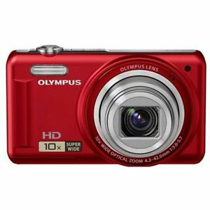 Olympus VR-310 14MP Digital Camera - Red