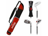 Junior Spalding Golf Set - Age 11-14 roughly NEW - Red