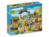 Playmobil 4850 large zoo boxed + (4855 Zoo vehicle/trailer)