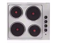 Electrolux EHS6140HOX 60cm Solid Plate Electric Hob in Stainless Steel