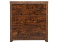 Torino 3 drawer chest in mango rrp £229
