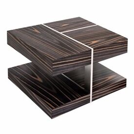 Zebrano wood lamp table