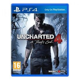 Unopened - Uncharted 4 for PS4