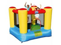 Bouncy castle inflatable with electric pump