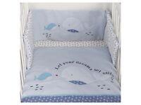 Baby Bupmer Set Cot Brand New 2 designs boys or Unisex towel Sleeping bag