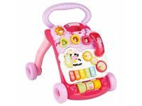 Vtech pink First Steps musical walker