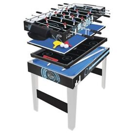 multi game table, pool, table tennis, air hockey, football