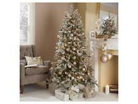 6ft 6in Snow flocked Aspen Christmas tree