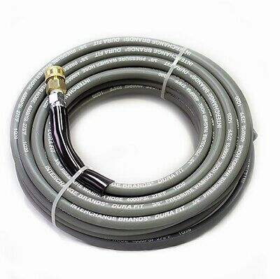 Non-marking Pressure Washer Hose - 4000 Psi 50 Ft. Length 50 Gray With Couplers