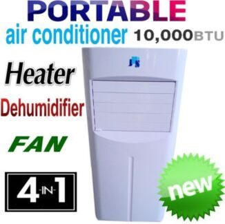 NEW REVERSE CYCLE 10,000 BTU PORTABLE 4-in-1 AIR CONDITIONER