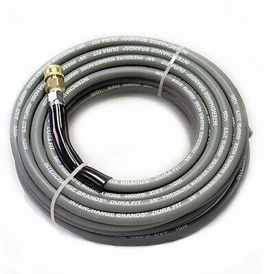 50 Ft 38 Gray Non-marking 4000psi Pressure Washer Hose With Quick Couplers