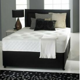 Victoria Divan Double Bed Set with Orthopaedic Spring Memory Foam Mattress